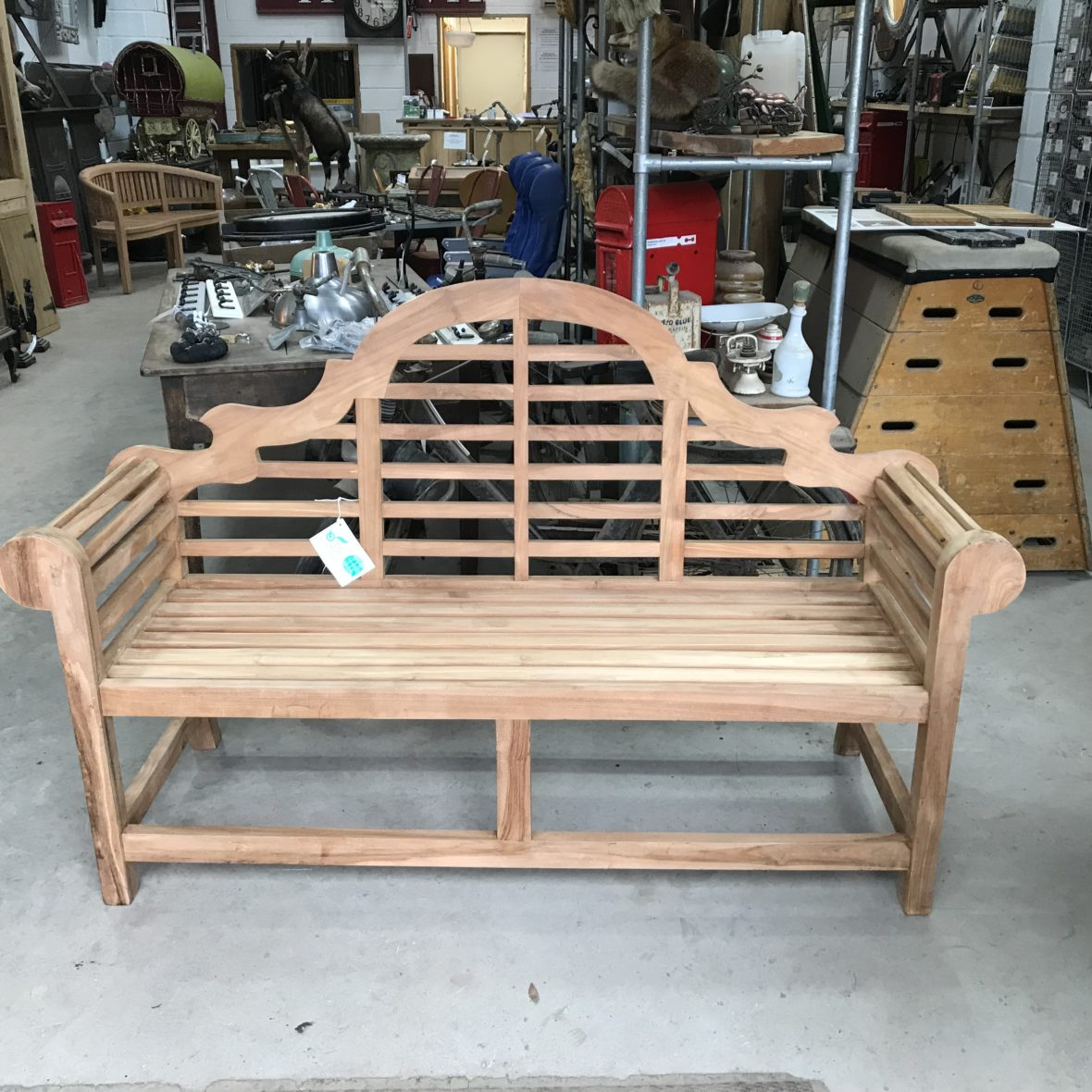 Lutyens Teak Garden Bench - The Beechfield Reclamation Co